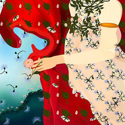Digital Art - Venu's Dress  by Gabriela Delgado