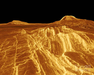 Magellan Probe Photograph - Venus, Eistla Regio by Science Source