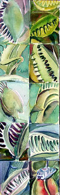 Venus Fly Trap Original by Mindy Newman