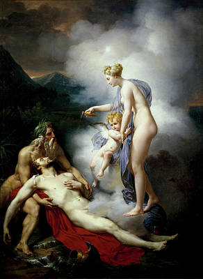 Venus Healing Eneas Art Print by Merry-Joseph Blondel