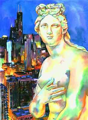 Venus De Milo Painting - Venus In The City by Christy  Freeman