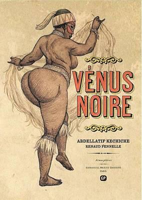 Venus Noire Art Print