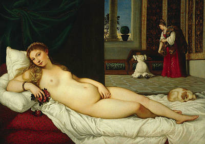 Venus Of Urbino  Art Print by Titian