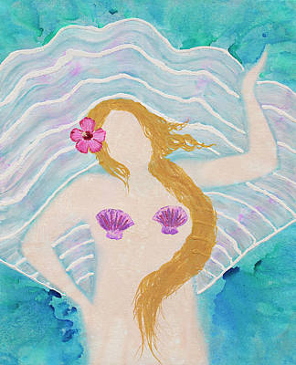 Painting - Venus On A Half Shell by April Kasper