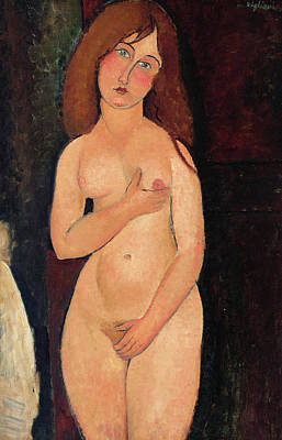 Covering Up Painting - Venus Or Standing Nude Or Nude Medici by Amedeo Modigliani