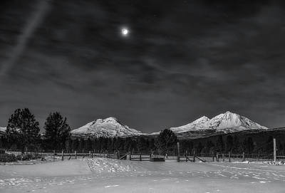 Photograph - Venus Over Three Sisters by Cat Connor