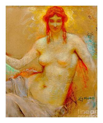 Pastel - Venus Pastel Lucien Levy Dhurmer 1915 by Peter Gumaer Ogden