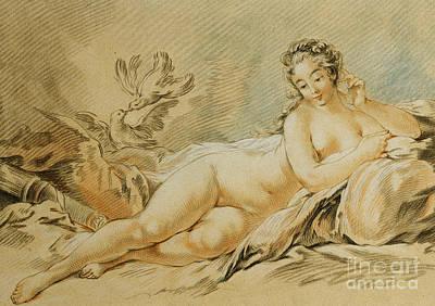 Venus Drawing - Venus Resting by Louis Marin Bonnet