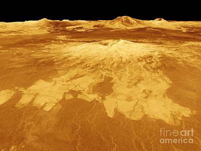 Magellan Probe Photograph - Venus, Sapas Mons Volcano by Science Source