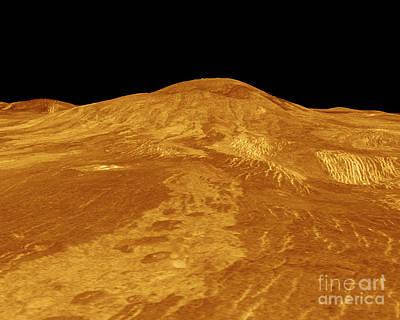 Magellan Probe Photograph - Venus, Sif Mons Volcano by Science Source