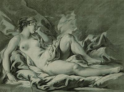 Venus Drawing - Venus Sleeping by Louis Marin Bonnet