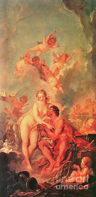 Photograph - Venus Visits Vulcan 1754 by Padre Art