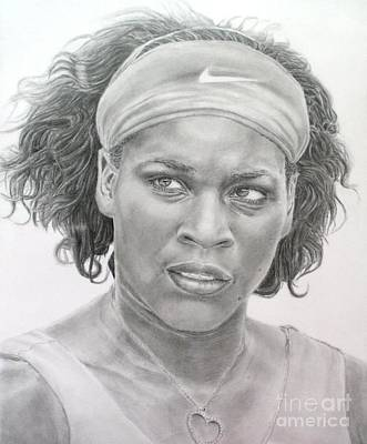 Venus Williams Drawing - Venus Williams by Blackwater Studio