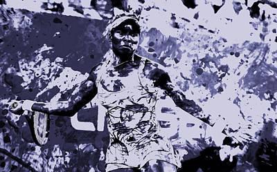 Venus Williams Mixed Media - Venus Williams Stay Focused by Brian Reaves