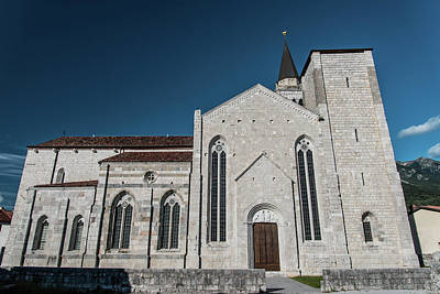 Thomas Kinkade - Venzone Cathedral, reconstructed stone stone art. by Nicola Simeoni