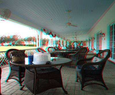 Photograph - Veranda At The National Croquet Club by Ron Davidson