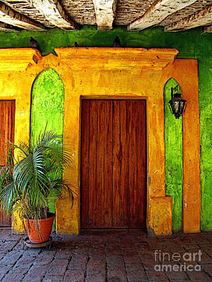 Portal Photograph - Veranda El Quilete by Mexicolors Art Photography