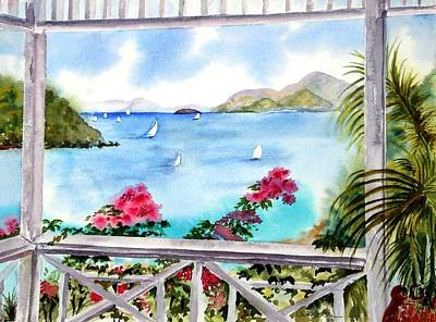 Painting - Veranda View by Diane Kirk