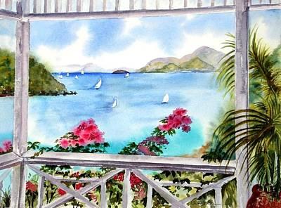 Painting - Veranda View by Diane Kirk