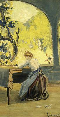 Painting - Verandah In Spring by Louis Michel Eilshemius