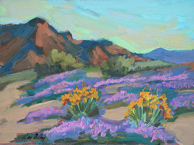 Art Print featuring the painting Verbena And Spring by Diane McClary