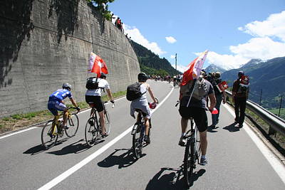 Travel Photograph - Verbier - Tour De France 2009 by Travel Pics
