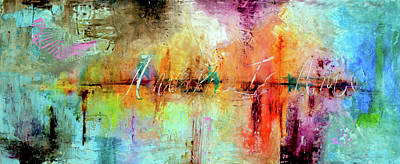 Abstract Forms Painting - Verdadero Amor by Ivan Guaderrama