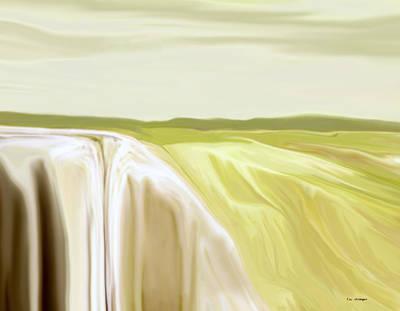 Verdant Cliffs Art Print by Tim Stringer