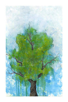 Drip Painting - Verdant by Richardson Comly