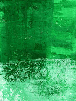Tea Rooms Painting - Verde-  Contemporary Abstract Art by Linda Woods
