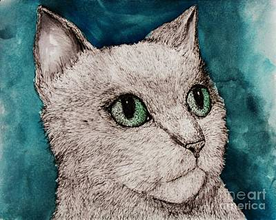 Painting - Verde Eyes by Melinda Etzold