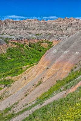 Photograph - Verdant Badlands by John M Bailey