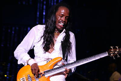 Photograph - Verdine White  One Of The Best Out There by Paul SEQUENCE Ferguson             sequence dot net