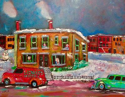 Painting - Verdun Memories 1960 by Michael Litvack