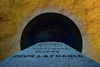 Photograph - Verdun, France - Muslim Memorial Marker by Mark Forte