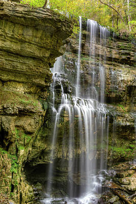 Photograph - Vergin Falls Tennessee At Low Water Flow by Douglas Barnett
