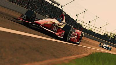 Painting - Verizon Indycar Series - 1 by Andrea Mazzocchetti