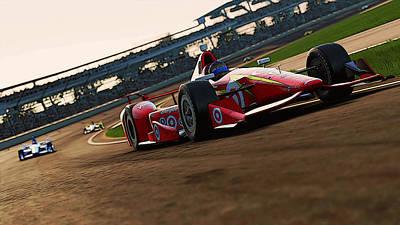 Painting - Verizon Indycar Series - 2 by Andrea Mazzocchetti