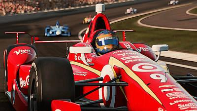 Painting - Verizon Indycar Series - 4 by Andrea Mazzocchetti