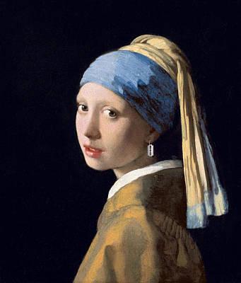 Digital Art - Vermeer - Girl With A Razor Blade by Richard Reeve