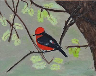 Painting - Vermilion Flycatcher by Charla Van Vlack