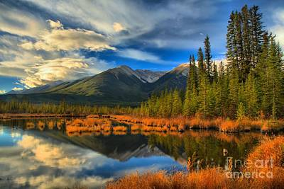 Photograph - Vermilion Lakes Landscape by Adam Jewell