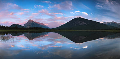 Vermilion Lakes Panorama Art Print by Cale Best