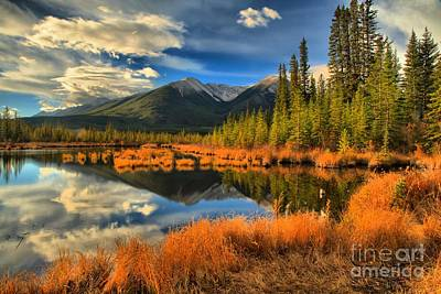 Photograph - Vermilion Lakes Vibrance by Adam Jewell