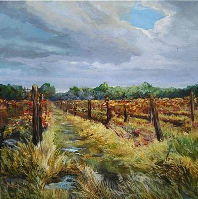 Painting - Vermilion Vineyard by Denise Ivey Telep