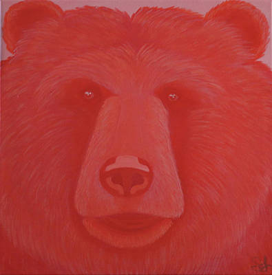 Painting - Vermillion Bear by Sarah Jean