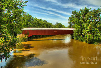 Photograph - Vermillion County Eugene Covered Bridge by Adam Jewell