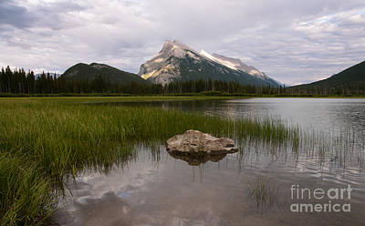 Photograph - Vermillion Lake And Mount Rundle by Vivian Christopher