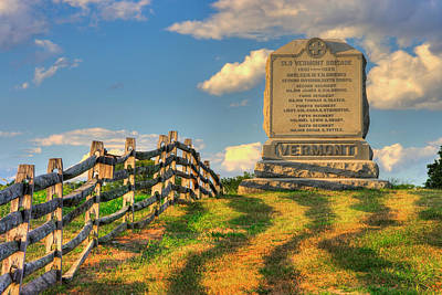 Photograph - Vermont At Antietam - The Old Vermont Brigade - Mumma Lane, Antietam National Battlefield by Michael Mazaika