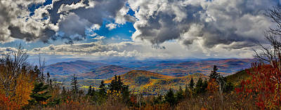 Vermont Autumn From Mt. Ascutney Art Print